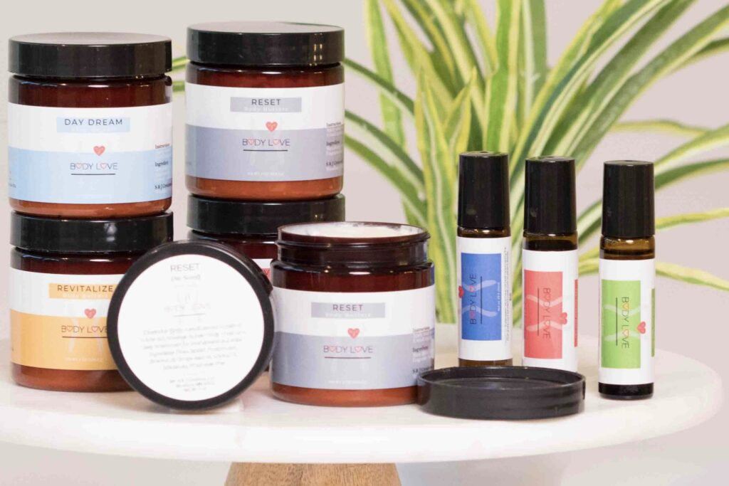 Body Love Products Packaging